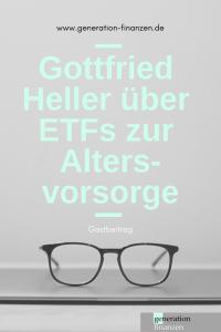 Gottfried Heller über ETFs zur Altersvorsorge