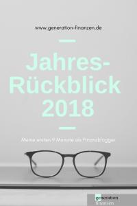 Jahresrückblick 2018 - meine ersten 9 Monate als Finanzblogger